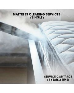 MATTRESS CLEANING CONTRACT CLEANING 1 YR 2 TIMES - SINGLE