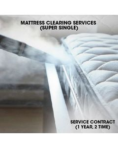 MATTRESS CLEANING CONTRACT CLEANING 1 YR 2 TIMES - SUPER SINGLE