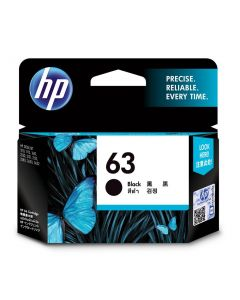 HP 63 BLK INK CARTRIDGE 63 BLACK