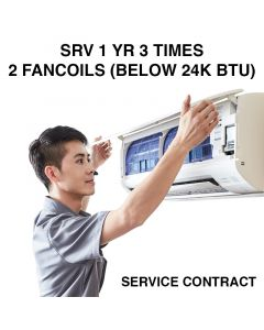 SERVICE CONTRACT 1 YR 3 TIMES - 2 FANCOILS (BELOW 24K BTU)