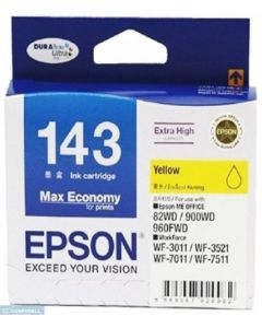 EPSON T143 YEL INK CARTRIDGE C13T143490~143~YELLOW