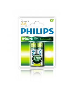 PHILIPS RECHARGEABLE BATTERY R6B2A270/97-2XAA-2700MAH