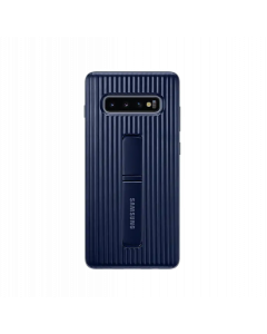 SAMSUNG S10+ STANDING COVER BLUE BLACK