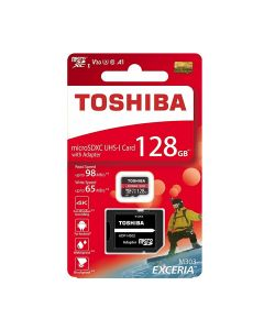 TOSHIBA MICRO SD 128GB WITH ADAPTER