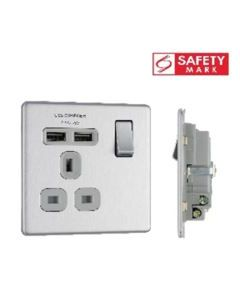 BRITISH GENERAL SOCKET W USBX2 FBS21U2G-01