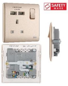 BRITISH GENERAL SOCKET W USBX2 PCCH21U2-01