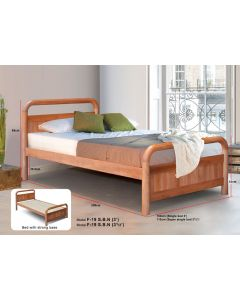 SOLID WOODEN BEDFRAME SINGLE F-19SBN-S-CHERRY