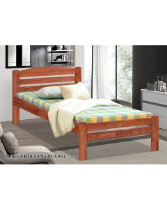SOLID WOODEN BEDFRAME SINGLE F-28LTN-S-CHERRY