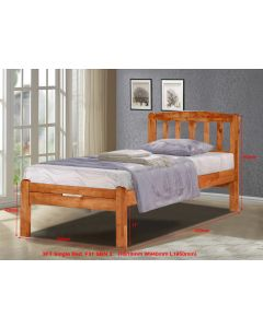 SOLID WOODEN BEDFRAME SINGLE F-31LTN-S-CHERRY