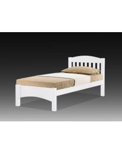 SOLID WOODEN BEDFRAME SINGLE F-50LT-S-WHITE
