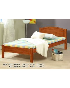 SOLID WOODEN BEDFRAME SINGLE F-2113N-S-CHERRY