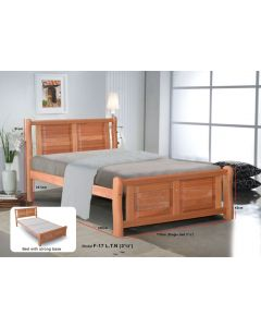 SOLID WOODEN BEDFRAME S/SINGLE F-17LTN-SS-CHERRY