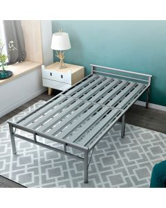 FOLDABLE METAL BEDFRAME SINGLE TB-001-BF-GREY