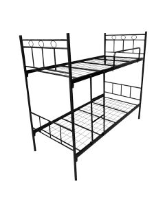DOUBLE DECKER BED METAL FRAME 239-B2-BLACK