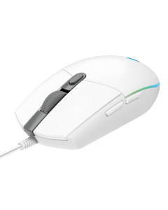 LOGITECH WIRED GAMING MOUSE G203 LIGHTSYNC WH
