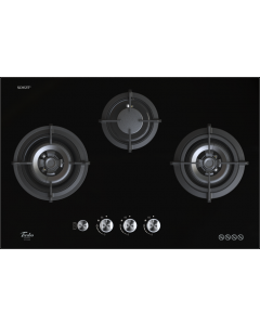 TURBO GLASS HOB - 3 BURNERS T773GV-BK