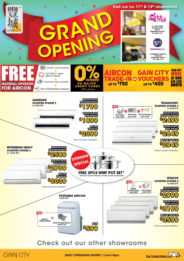 New Store Offer in Tampines and Bedok